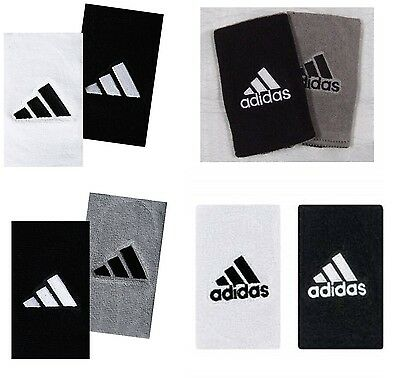 NEW Adidas Interval Reversible Wristbands Sport Large SWEATBANDS White Black