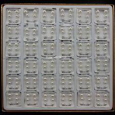 108 Pair White Pearl Steel Post Nickel Free Stud Earring Size 3mm 4mm 5mm