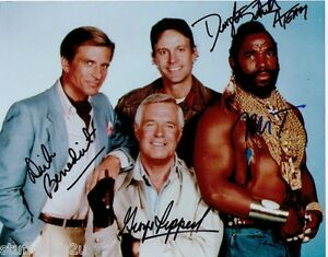 The A Team Signed 8x10 RePrint Auto George Peppard, Mr. T, Dirk Benedict