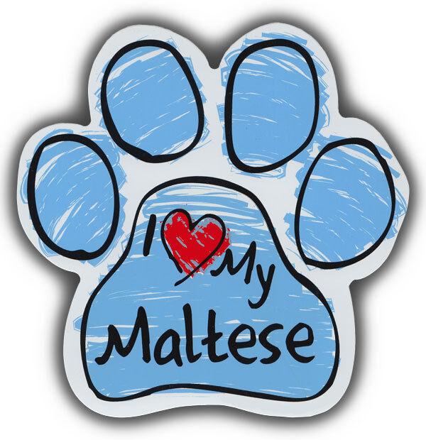 Scribble Paw Dog Magnets: I LOVE MY MALTESE | Cars, Trucks, Refrigerators