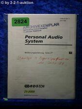 Sony Bedienungsanleitung ZS 2000 Personal Audio System (#2824)