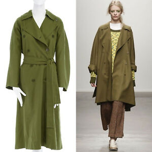 3e0e47c2317 new KAREN WALKER AW13 Kristall green virgin wool belted trench coat ...