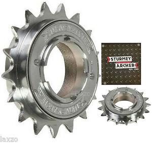 Sturmey-Archer-Single-Speed-Freewheel-Cog-Chrome-1-2-034-x-3-32-034-amp-1-8-034-Fixie-Bike