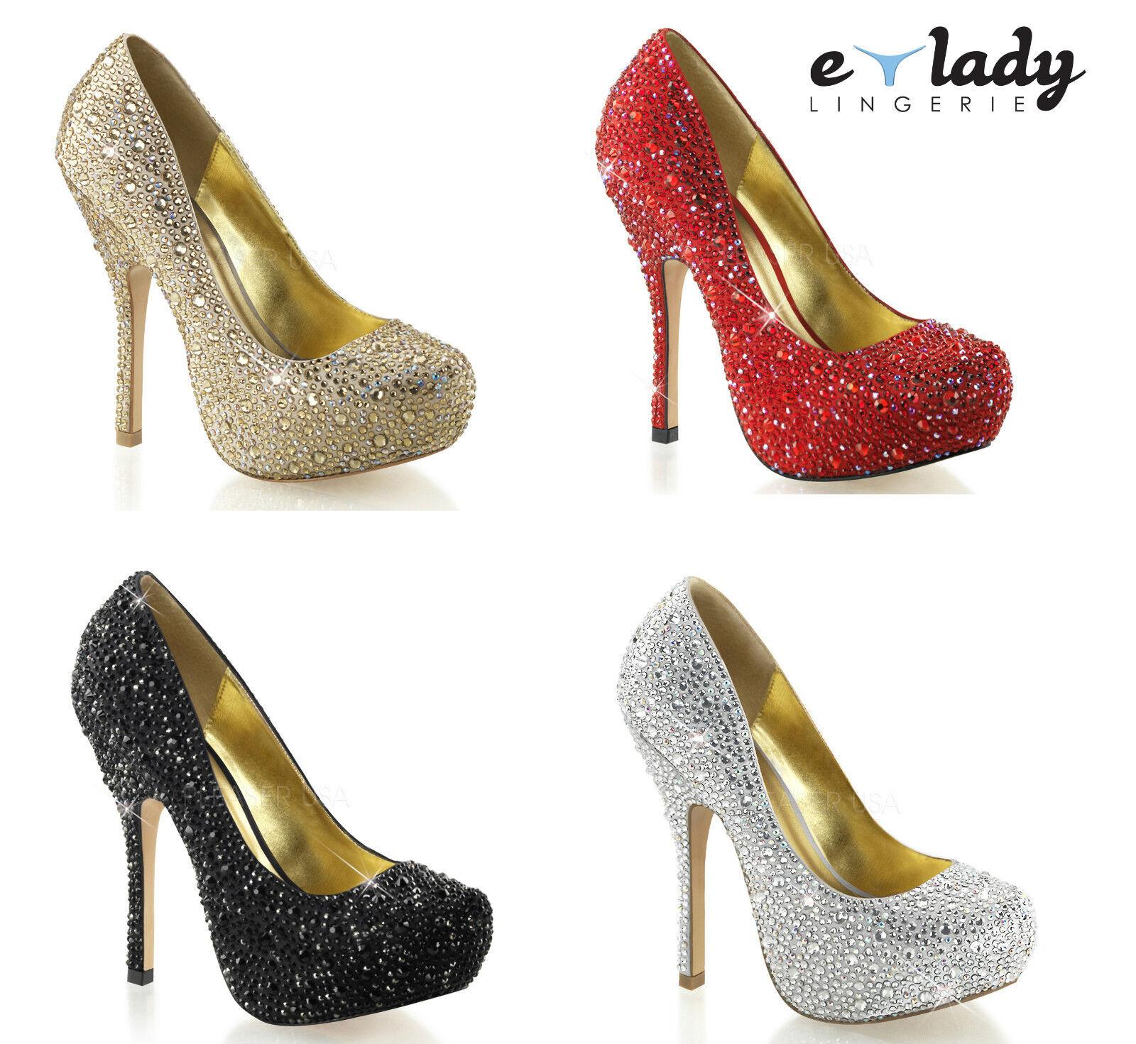 Pleaser Felicity-20 damen Court schuhe Pumps 5  Stilettos High Heels Platform  | Kompletter Spezifikationsbereich