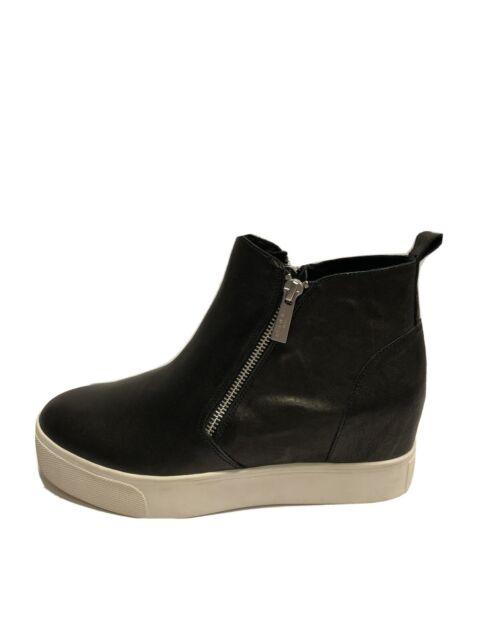 Azt Womens Sneaker Black Leather M 8.5 J Slides