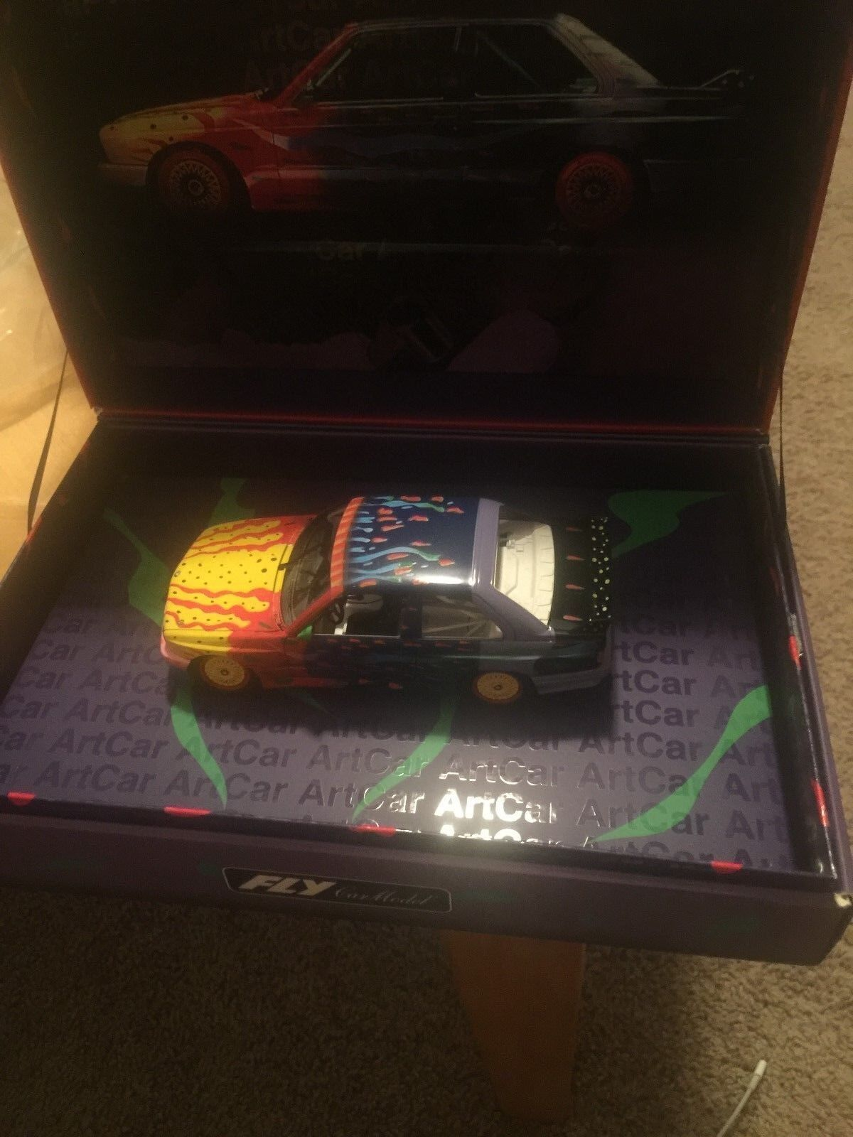 M B Fly Voiture BMW M3 E30 ART CAR KEN DONE ref 99022 RARE