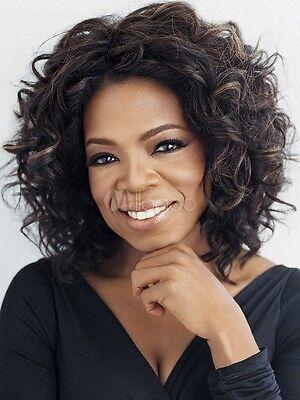 Fashion wig New sexy Women's Medium long Black Mix Brown Curly wig +Free wig cap