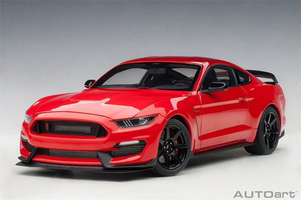 Ford Shelby gt350r gt350r gt350r en rojo Model coche en 1  18 escala por auto 72935 2b6