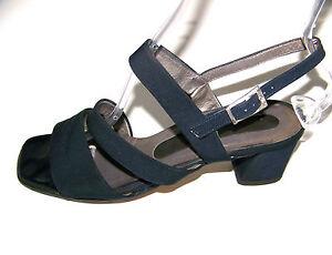 Details zu TAMARIS schwarze Wildleder Sandaletten Pumps Damen 36 UK 3,5 Sommer Schuhe °ZLV