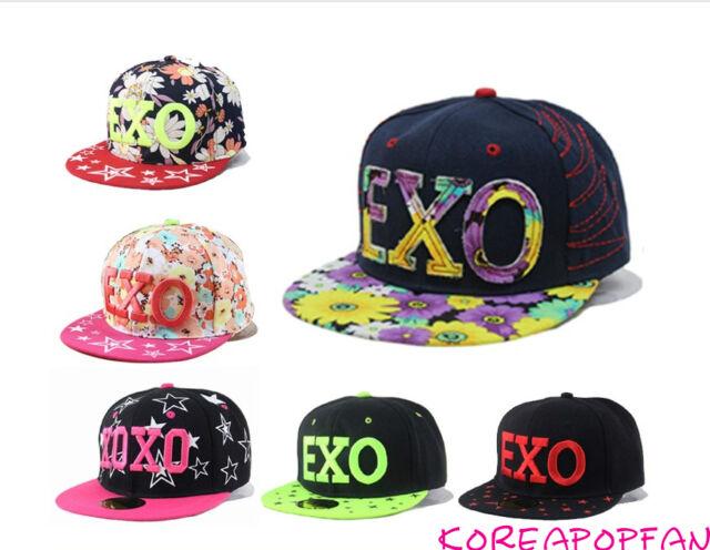 EXO  SEWN chanyeol baekhyun sehun Kris Luhan suho Snapback Cap hat Kpop New