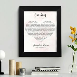 Personalised-First-Dance-Wedding-Song-Lyrics-Heart-Print-in-Frame-Wall-Art-Gift