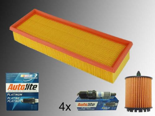 4 Platin Zündkerzen Luftfilter Ölfilter Set Chevrolet HHR 2.2L 2.4L 2006-2011