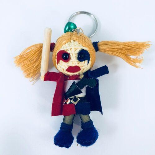 Harley Quinn suicidio Squad Chaqueta COS Hecho a Mano Cadena muñeca llavero encanto de la suerte