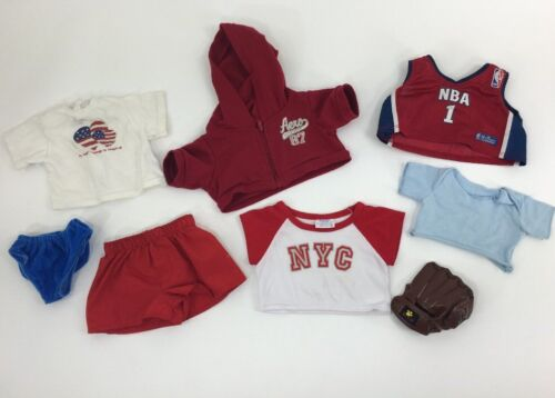 Build A Bear Lot Clothes NYC Shirt NBA Jersey Mitt Shorts Shirts