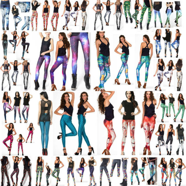 Womens Comfortable GYM Yoga Muscle Galaxy Pants Leggings New arrivals S-M,L-XL