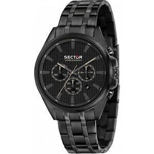 Orologio-Sector-280-R3273991001-Watch-Acciaio-Cronografo-Full-black-Uomo