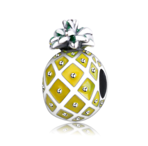 30mm x 11mm Solid 925 Sterling Silver Vintage Antiqued Pineapple Charm Pendant