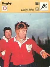 FICHE CARD: Lucien Mias (Docteur Pack) Bernard Momméjat France  RUGBY à XV 1970s