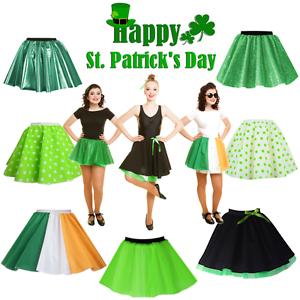 ST PATRICKS DAY Costume IRELAND Shamrock GREEN Irish Dance SKIRT Dublin Costume