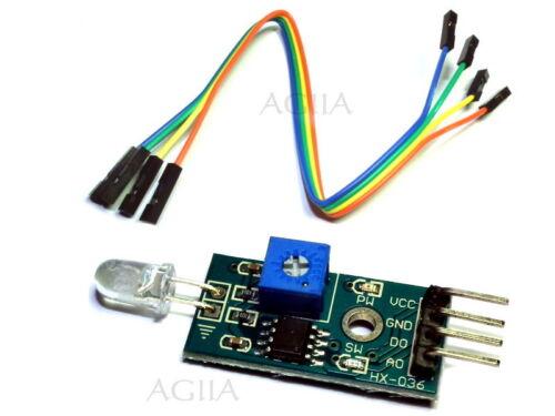 UK 3.3-5V input LM393 light Sensor Module for Arduino DO//AO output W Cables