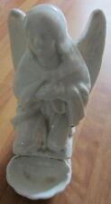 Antica acquasantiera da appoggio -Arte sacra -Font -Benitier in ceramica -angelo