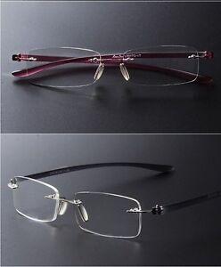 High End Men s Eyeglass Frames : Ultra-High-End Men And Women Reading Glasses Rimless Frame ...