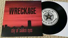 "WRECKAGE - CITY OF SUNKEN EYES 7"" BLACK WAX (200 PRESS / PREORDER) SXE NYHC PUNK"