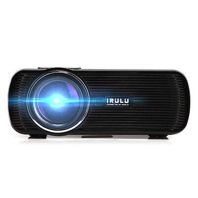 iRULU Mini 3D Home Cinema Theater  LED Projector 1080P FHD HDMI AV USB VGA PC SD