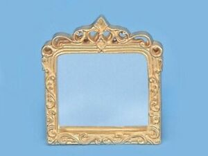 "Dollhouse Miniature Large Fancy Gold Mirror 1:12 Scale Accessory 3 1//2/"" x 2 1//2/"""