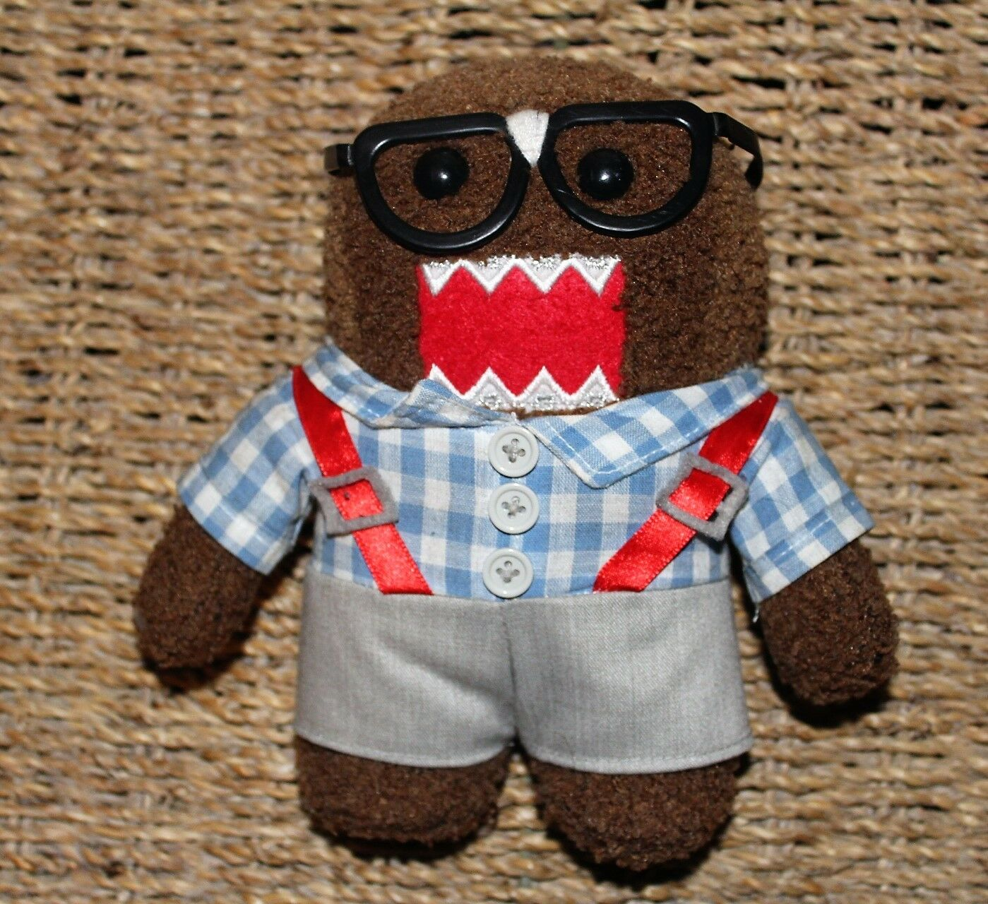 Limited Edition Nerd Glasses Suspenders Domo 7  Plush Figure