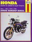Honda CB250 and CB400N Superdreams Owner's Workshop Manual by Martyn Meek (Paperback, 1988)