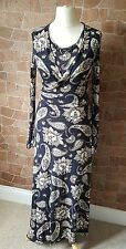Ladies French Connection Floral Paisley Print Wrap Style Dress UK 12