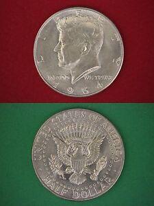 MAKE-OFFER-1-00-Face-Value-90-Silver-1964-John-Kennedy-Half-Dollars-Junk-Coins
