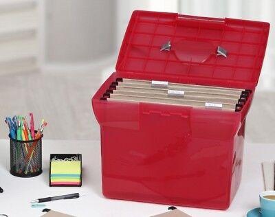 1PLUS Premium Ablagebox H/ängemappenbox Aktenbox Archivbox aus Kunststoff, A4 schwarz