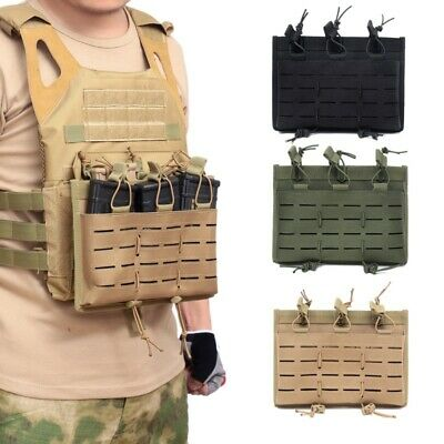 Details about  /Tactical Hunting Molle Triple Magazine Pouch Mag Pistol Holder Tool Bags Handgun