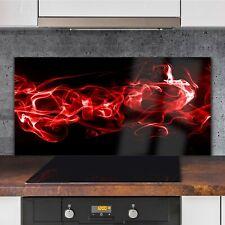 Küchenrückwand Spritzschutz aus Glas 120x60 Deko Kunst Flammen