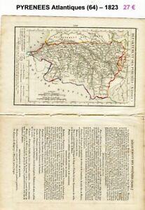 Rationnel Dépt 64 - Xix ème Siècle Belle Petite Carte Avec 2 Pages De Renseignements 1823 Bon Pour AntipyréTique Et Sucette De La Gorge