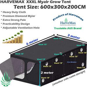 Image is loading Hydroponics-6x3x2M-Large-Mylar-Grow-Tent-Room-Fo-  sc 1 st  eBay & Hydroponics 6x3x2M Large Mylar Grow Tent Room Fo LED HPS/MH Grow ...