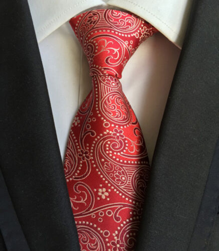 013KT jacquard mens silk neck tie male pink floral paisley party necktie ties
