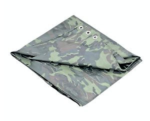 Camouflage Tarp 5 Mil Water Resistant Multi Purpose Tarps Canopy 7'x9' USA NEW