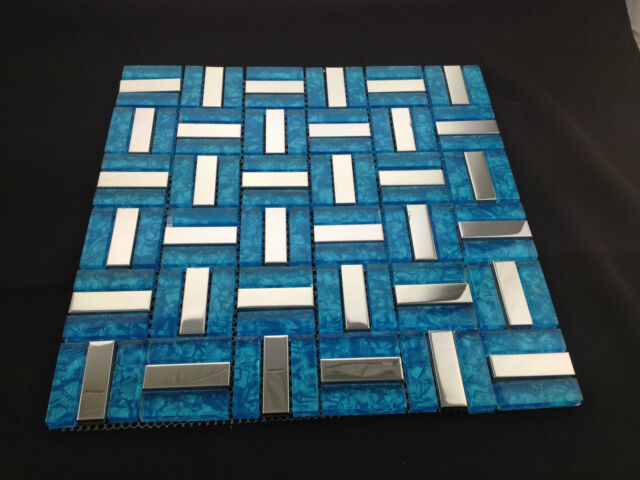 Beautiful High Quality Glass Mosaic Wall Tiles-Kitchen/Bathroom #J10