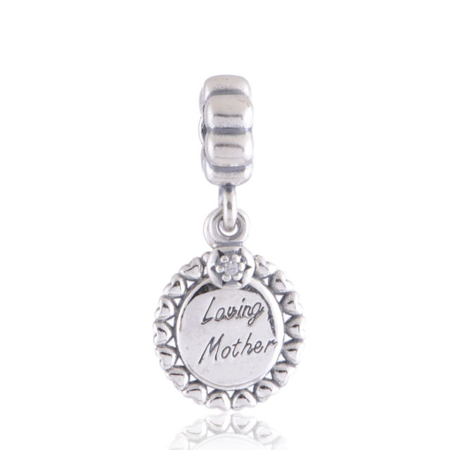 Solid Sterling Silver Dangle Charm Mum Mother's Day for Sterling Silver Bracelet