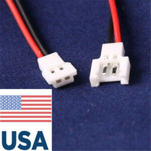 20 Pairs For Walkera Battery 2-Pin Connector Male/&Female with wire USA