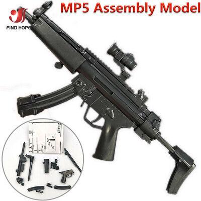 8Pcs 1//6 Toys Gun Model Puzzles Building Bricks Gun Soldier Weapon+Display Wall