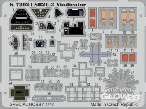MPM 100-K72024 Ätzsätze Luftfahrt SB2U-3 Vindicator
