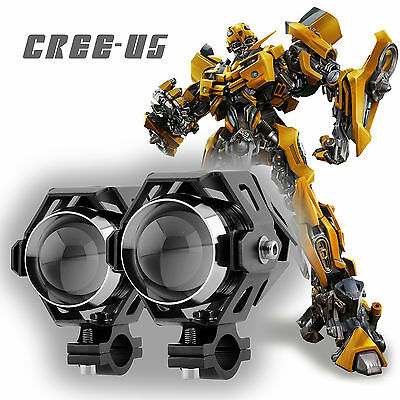 2X CREE U5 LED 125W MOTORCYCLE SPOT DRIVING FOG LIGHT FOR  Spotlight Headlight