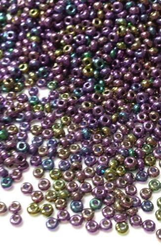 lot 20g perles de rocaille ornella scarabée violet ////23