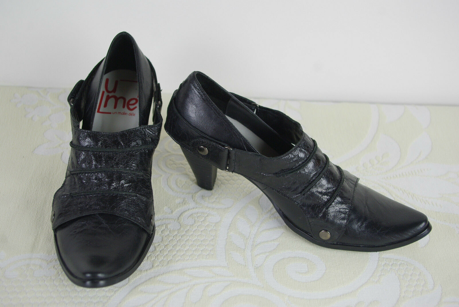 Pumps Pumps Pumps Stiefel UME Un Matin Sommer schwarzes Leder T 36 top Zustand f7e687