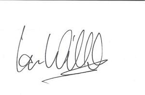 A-14cm-x-9cm-Plain-White-Card-Signed-by-Ian-Wilcox-Barnsley-Leeds-United-Bury