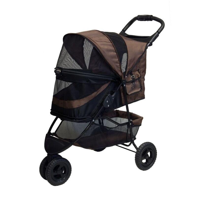 Pet Gear No-Zip Special Edition Stroller, Chocolate PG8250NZCH STROLLER NEW